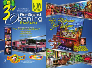 Mona's Grand Re-Opening Celebration Poster